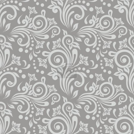 Illustration for Seamless floral pattern for design, vector Illustration - Royalty Free Image