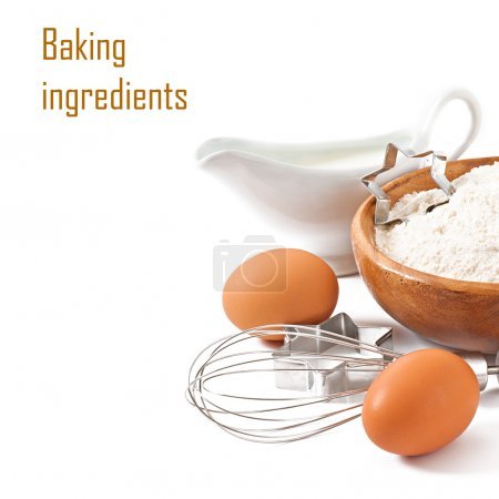 Baking ingredients closeup