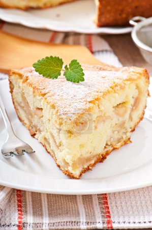 Photo for Slice of apple pie on a plate - Royalty Free Image
