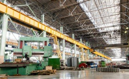 Photo pour Atelier d'usinage des travaux métallurgiques - image libre de droit
