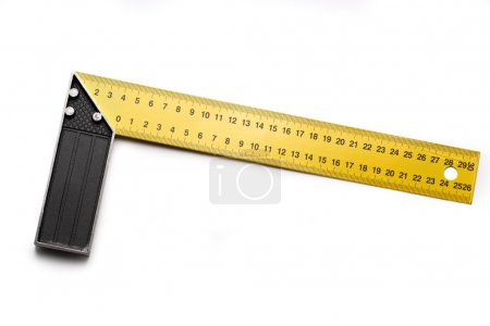 Angle ruler on white background