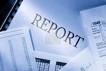 Photo pour Budget de fonctionnement, calendrier et rapport - image libre de droit