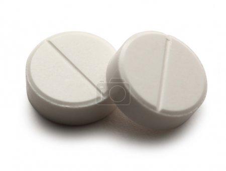 Photo for Aspirin pills on white background - Royalty Free Image