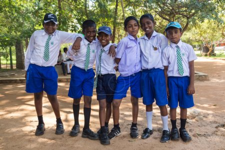 Group of school students