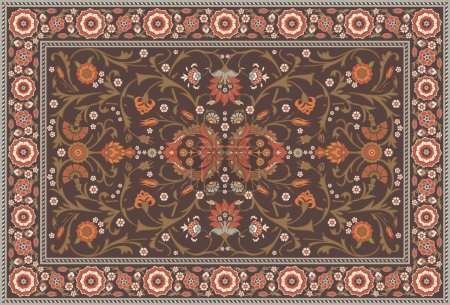 All-over Floral Rug Layout