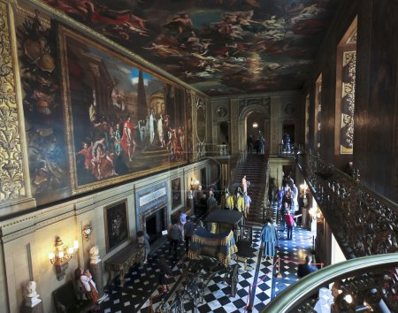 A View of the Chatsworth Painted Hall, England