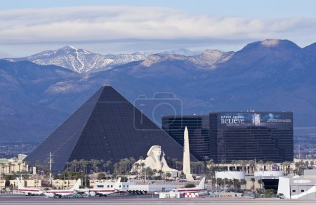 A Luxor View from McCarran International Airport