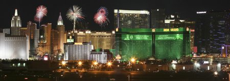 An MGM Grand Fireworks View from McCarran International Airport