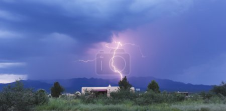 A Bolt of Lightning in the Mountains