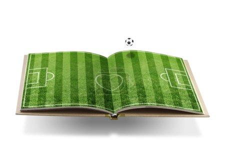 Soccer book concept