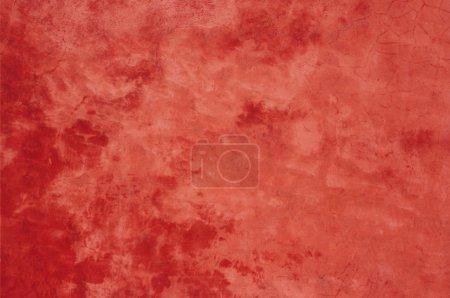 Photo pour Texture de mur en béton rouge - image libre de droit