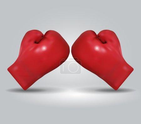 Red boxing gloves / vector illustration