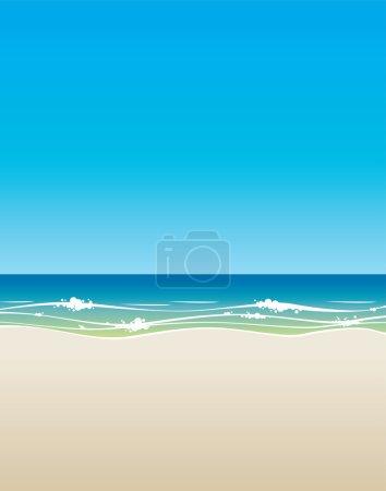 Beach background vector...