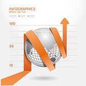 Infographic oranžová šipka diagramu diagram. Podrobné / mohou být použity f