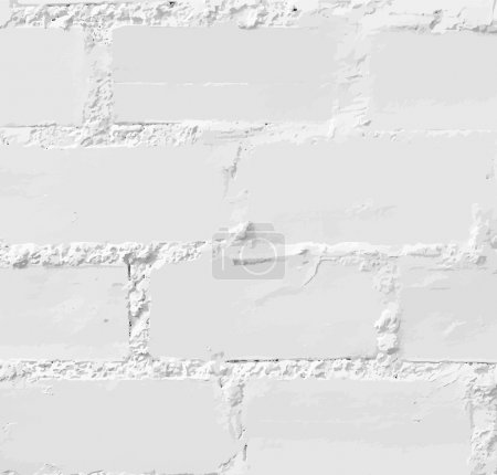 Illustration for White brick wall,vector- seamless - Royalty Free Image