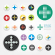 Icons plus design set , can be used for infographi...