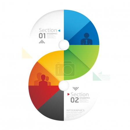 Abstract infographic Design Minimal circle shape style template