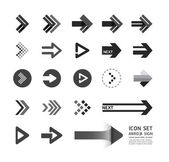 Arrow icons design set