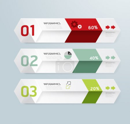 Illustration for Infographic template Modern box Design Minimal style, graphic or website layout vector - Royalty Free Image