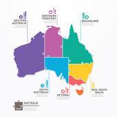 Australia Map Infographic