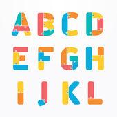 Alphabet  jigsaw concept