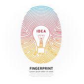 Fingerprint lightbulb