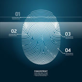 Fingerprint Scan vector illustration.