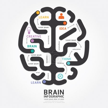 Infographics brain design