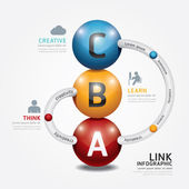 Připojení šablony Infographic barevné kuličky