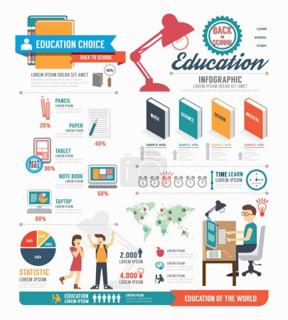 Photo for Infographic education template design . concept vector illustration - Royalty Free Image