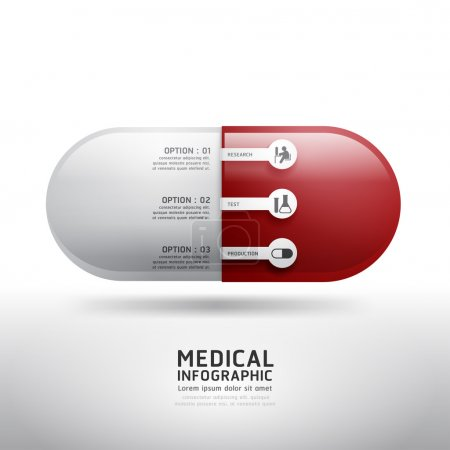 Illustration for Capsule drugs infographic pharmacy medicine medical. Vector illustration. can be used for infographics, banners, concept vector - Royalty Free Image