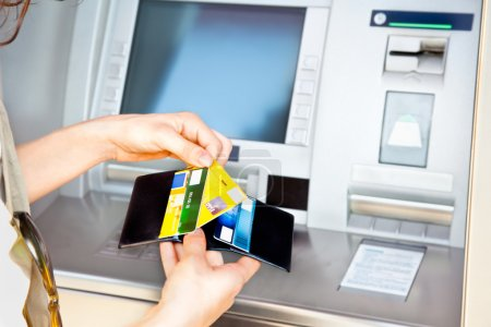Cash withdrawal with Visa card