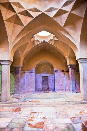 Beautiful architcture of Hammam-e Ali Gholi Agha, historic bath, Iran