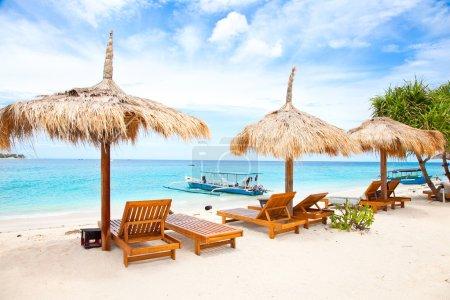 Beach rest pavilion in Gili island