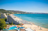 Panoramic view of Golden Sands beach , Bulgaria.