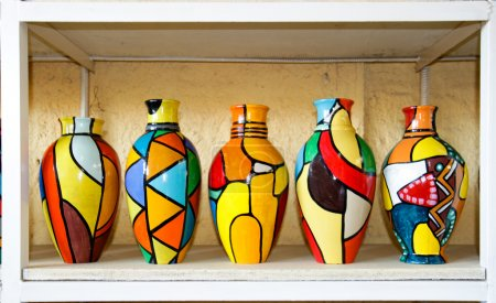 Color full collection of vases