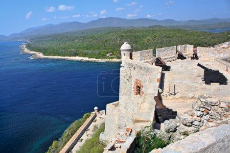 Photo pour San Château pedro de la roca del morro, santiago de cuba, cuba - image libre de droit