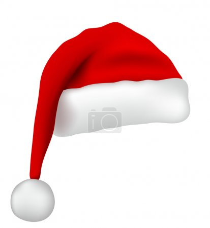 Illustration for Santa Claus hat isolated on white background - Royalty Free Image