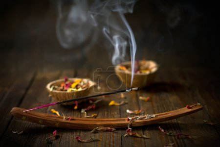 Photo for Incense stick. Aromatherapy - Royalty Free Image