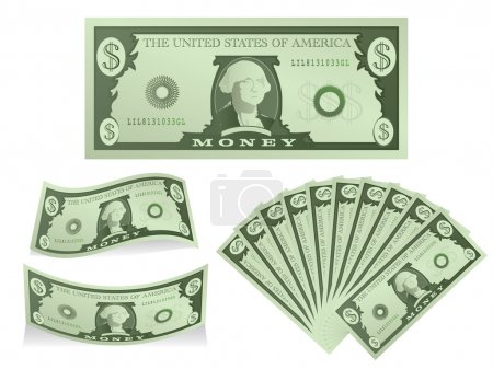 Dollar Bill Icon Set