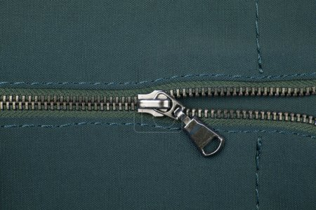 Closeup of zipper
