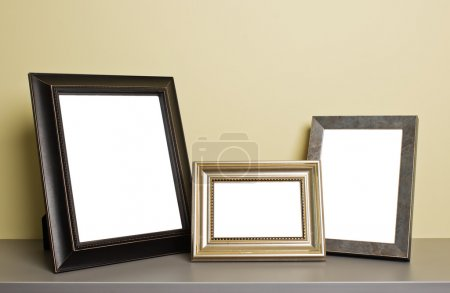 photo frames on old table