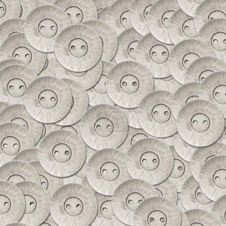 Photo pour Métal argenté boutons à coudre fond - image libre de droit