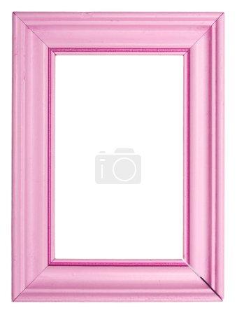 Photo pour Vieux cadre rose isolé sur fond blanc - image libre de droit