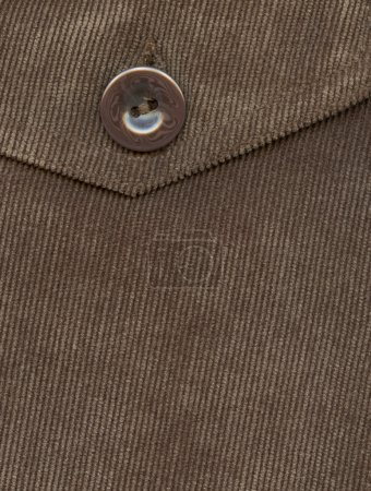 Photo for Fragment of pocket, Trouser pocket of brown corduroys. - Royalty Free Image