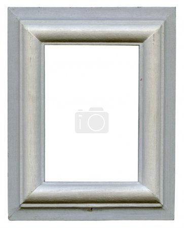 Photo for Gray wooden frame isolated on white background - Royalty Free Image