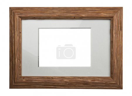Photo for Wooden frame isolated on white background - Royalty Free Image