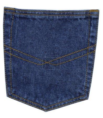 Blue jeans pocket, close up