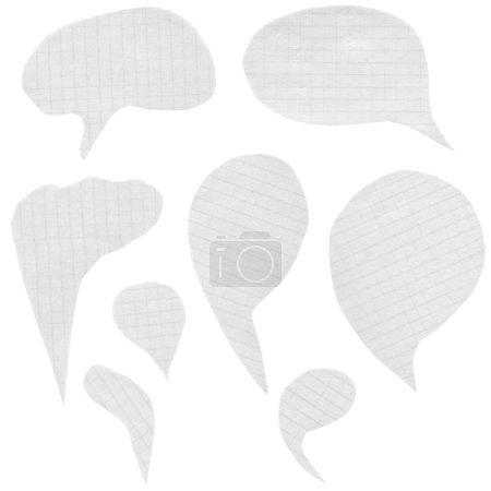 Collection paper speech bubbles
