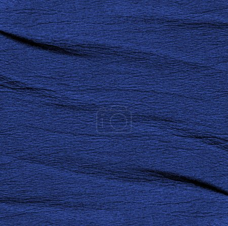 crumpled blue leather texture
